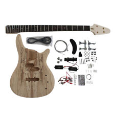 Coban Bass Guitar DIY Kit 4 stg Ash Body Spalted Maple 901 Chrome No Soldering