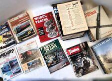 VTG~1950-1986 MCM Model Railroad Train Magazines~116pc Lot SEE INVENTORY LIST