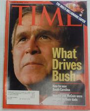 Time Magazine George W. Bush Multi-Millionaire Caper February 2000 042015R