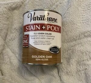 Rust-Oleum Varathane Stain And Protect Poly Rich Even Golden Oak Semi-Glass