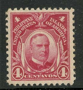 U.S. Possession Philippines stamp scott 291 - 4 cents issue of 1917 - mh #9