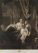 Richard EARLOM (1743) nach A. WERFF (1659), Bathseba & Abishag, 1779, Mezzotinto