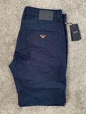 "AJ Armani Men's Chino Shorts J45 BNWT New Navy Blue 32"" Waist Regular Leg"