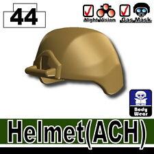 Dark Tan ACH (W19) Advanced army Assault helmet compatible w/ toy brick minifig