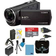 Sony HDR-CX405/B Full HD 60p Camcorder with Deluxe Bundle - Black