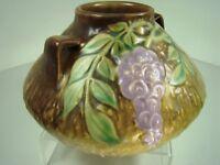 Roseville Art Pottery Antique Wisteria Ink-Pot Handled Vase 629-4 ca1933