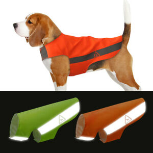Soft Dog Safety Vest Harness Reflective Hi Vis Viz Jacket Clothes Orange XS-5XL