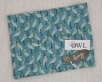PEONY STORK SCARF Soft Ladies Blue White Muster of Storks Bird Scarves Gifts UK