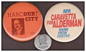 BC politial PBs: Harcourt Our City Vancouver; NPA Caravetta; Campbell mug shot