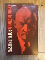 Lenin in Zurich Alexander Solzhenitsyn 1976 trans. H Willetts 1st UK ed hb in dj