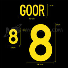 BELGIUM Away EURO 2000 NAME AND NUMBERING SOCCER FOOTBALL HERO PRINT