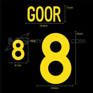 BELGIUM Away EURO 2000 NAME AND NUMBERING SOCCER FOOTBALL HERO PRINT