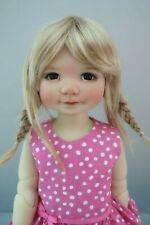 Monique TESSIE Wig Light Gld Blonde Size 12-13 SD BJD shown on My Meadow BAILEY