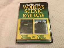 DVD WORLD'S SENIC RAILWAY 3 PROGRAMS 2 1/2 LONG W 3 BONUS SPECIALS REGION FREE.