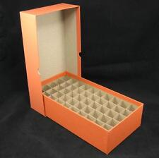 Quarter Round or Square Coin Tube or Roll Storage Box w/Dividers Holds 50