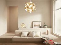 Lampadario salotto sala cucina sfera a sospensione 35 cm design anni 70 MONTATO