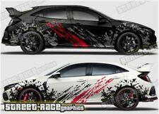 Honda Civic Rally 001 grunge mud splatter graphics stickers decals vinyl