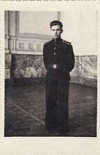 1951 Handsome young teen boy man Cadet school jock uniform parade Russian photo