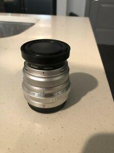 Fujifilm Fujinon XF35mm f/2 R WR Standard Lens - Silver W/ UV filter