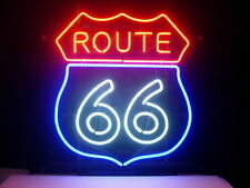 "Historic Route 66 Neon Light Sign 20""x16"" Lamp Beer Gift Bar Glass Decor Wall"