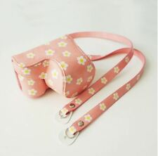 Pink Blossom Cute Camera Case Cover Pouch Bag + Neck Strap For Sony A5000 A5100