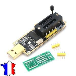 CH341A USB Programmer 24/25 Serie Graveur BIOS Writer SPI Flash + de bord U6N2
