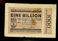 1923 Germany BUER  1 Trillion / 1.000.000.000.000 Mark Banknote