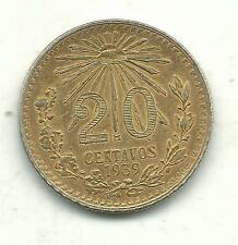 HIGH GRADE VF/XF 1934 MEXICO SILVER 10 CENTAVOS COIN-GOLD COLOR-MAY202