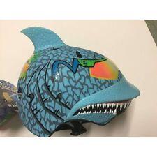 Raskullz Shark Maxx Blu Children's Helmet with Rubber Top Fin Age 5-8 (50-54 cm)