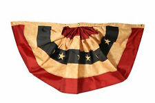 "Tea Stained Patriotic Bunting USA 48"" x 24"" Briarwood Lane"