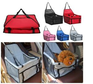 Portable Dog Cat Car Seat Booster Cover Pet Safe Travel Carrier Puppy Folding