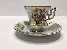 LM Royal Halsey Flower Very Fine Japan Tea Cup & Saucer