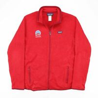 Vintage PATAGONIA  Red Logo Polyester Casual Fleece Jacket Womens M