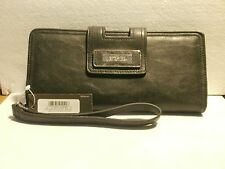KENNETH COLE REACTION BLACK TAB CLUTCH WITH STRAP NEW WITH TAG