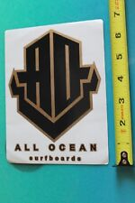 New listing Ao All Ocean Surfboards Surf Fusion Vintage Surfing Sticker