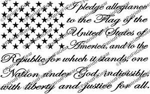 """The Pledge Of Allegiance,Flag,10.5""""x7"""",America,Country,20+Colors ,Vinyl Decal"""