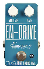 Emerson Custom EM-Drive Transparent Overdrive Effects Pedal, Brand NEW
