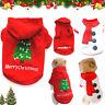 Cute Dog Puppy Christmas Santa Warm Costumes Coat Clothes Pet Apparel Shirt HOT
