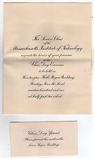 RARE 1901 MIT Class Day Invitation MASSACHUSETTS INSTITUTE TECHNOLOGY Cambridge
