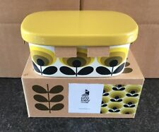 Orla Kiely Butter Dish 70s Oval Flower Yellow
