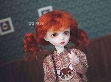 "QQ4-41B  Carrot-red Mohair Wig ; 7""~8""  1/4 BJD/SD/imda/JerryBerry pony tail"