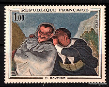 Stamp new of 1966 Yt 1494 Crispi and Scapin of Daumier
