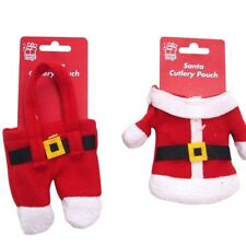 Assorted Santa Cutlery Pouch Holder Christmas Decoration Tableware Party Festive