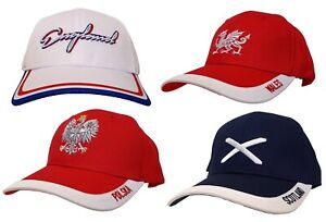 Adjustable Baseball Cap Hat, Embroidered - England, Wales, Scotland, Poland