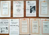 9 x Vintage Programmes Winter Garden Theatre Royal Plays Live Stage Drama