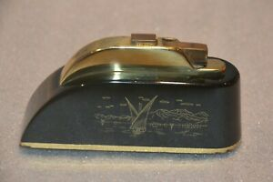 Vintage Thorens Table Lighter with Music Box Made in Switzerland