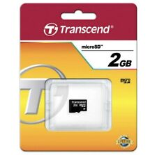 Brand New Transcend Flash 2GB MicroSD Memory Card, Manufacturer Lifetime Warrant