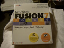 1 VINTAGE NetObjects Fusion 7 (2002) BRAND NEW / FACTORY SEALED