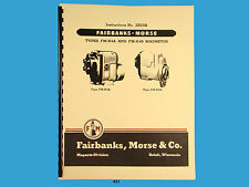 Fairbanks Morse Magneto Instruct &  Parts Manual for FM-K4A & FM-K4B Mags  *431
