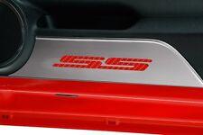 ACC Camaro SS Stainless Steel & Red Carbon Fiber Door Kick Plates (2010-2015)